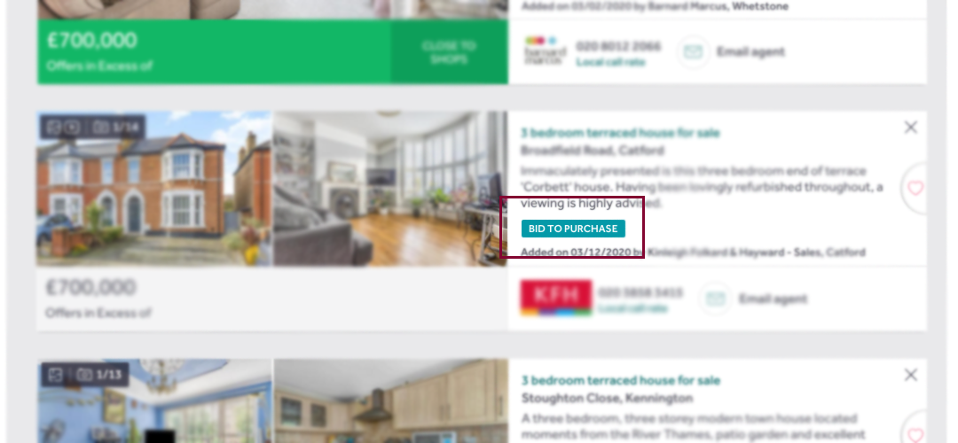 online conditional auction search results