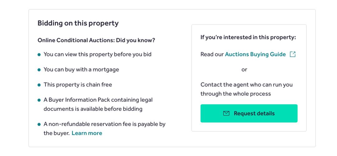 online conditional auction explainer
